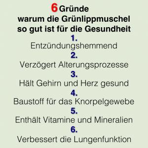 Grünlippmuschel 6 Gründe für die Gesundheit