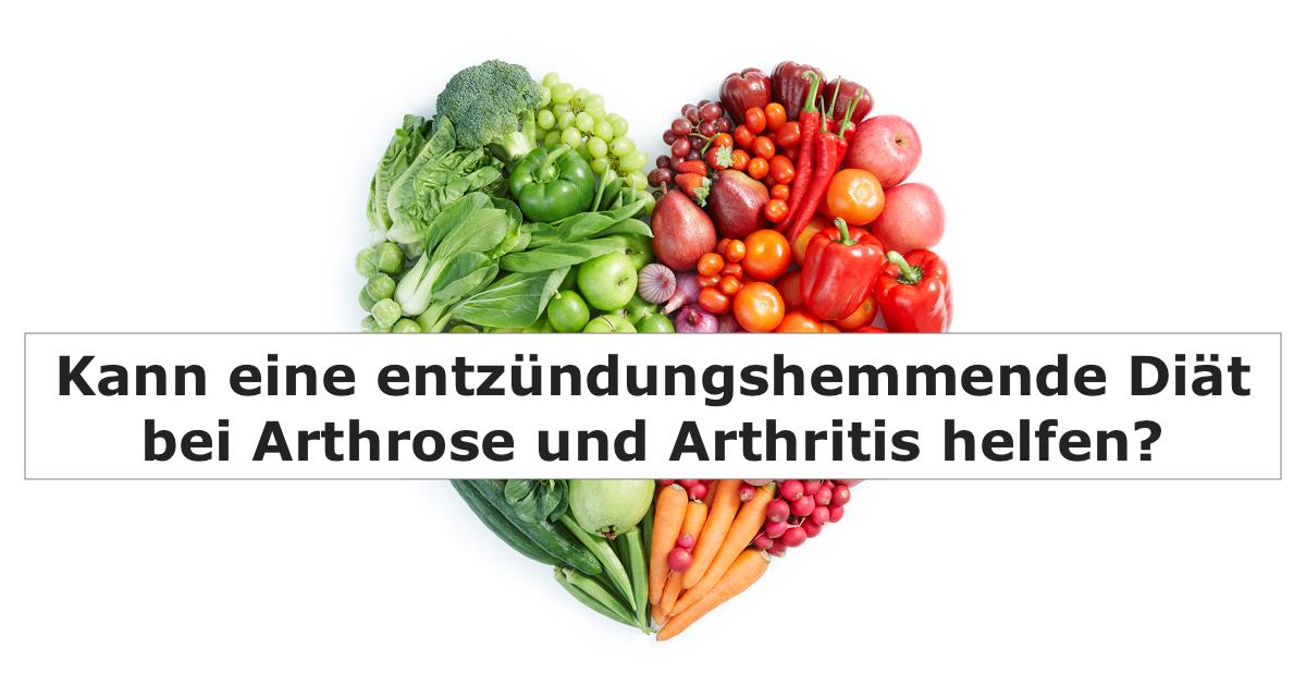 Diät für Arthrose und Arthritis